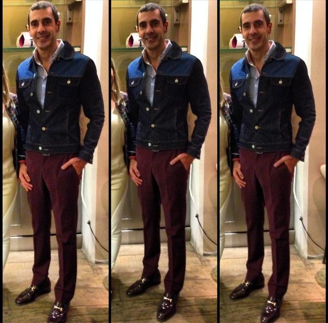 eujeans - Jaqueta jeans com calça social
