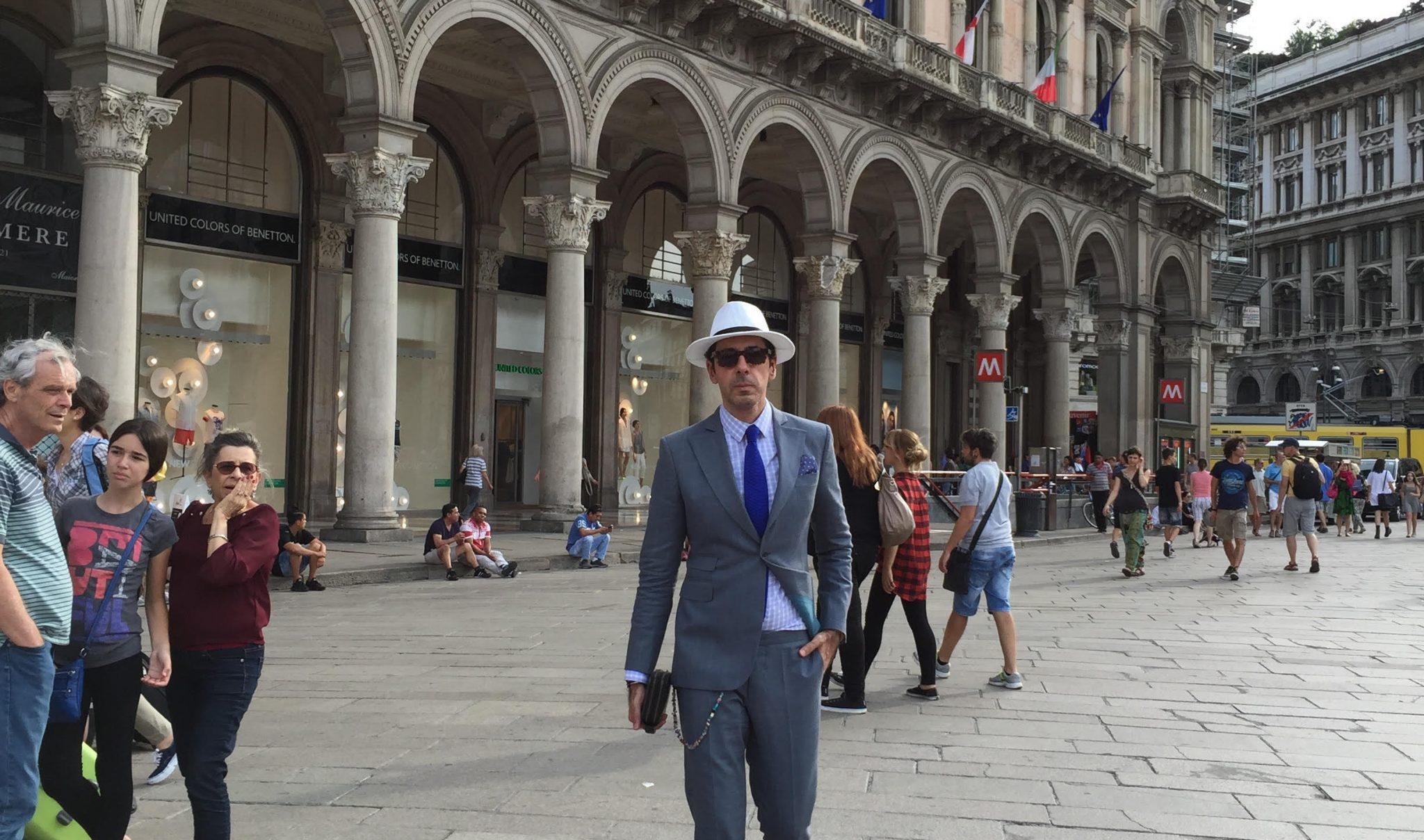 Look 1 e1435341610468 - Look do dia: Milano Fashion Week