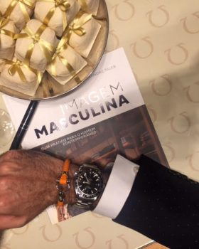 """omega bracelete 280x350 - Amaury Jr apoia lançamento do livro """"Imagem Masculina"""" de Alexandre Taleb"""