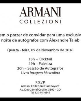 """armani collezione giorgio 280x350 - """"Armani Collezione"""" Goiania convida para lançamento do livro Imagem Masculina"""