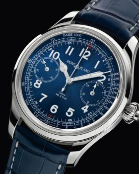 montblanc 1858 chronograph tachymeter blue limited edition 001 280x350 - Montblanc vence o  Grand Prix d'Horlogerie de Genève com 1858 Chronograph Tachymeter Limited Edition 100
