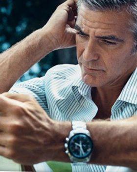 george clooney 280x350 - 60 Aniversário do relógio Omega Speedmaster
