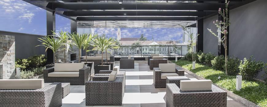nh curitiba the five 028 hotel facilities - Hotel NH Curitiba The Five oferece hospedagem ímpar em Curitiba
