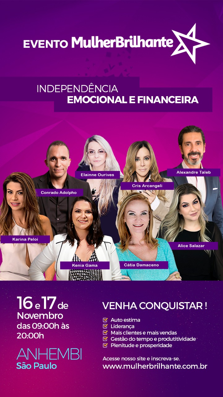 WhatsApp Image 2018 11 01 at 15.45.02 - Mulher Brilhante 2018 acontece no Anhembi em São Paulo