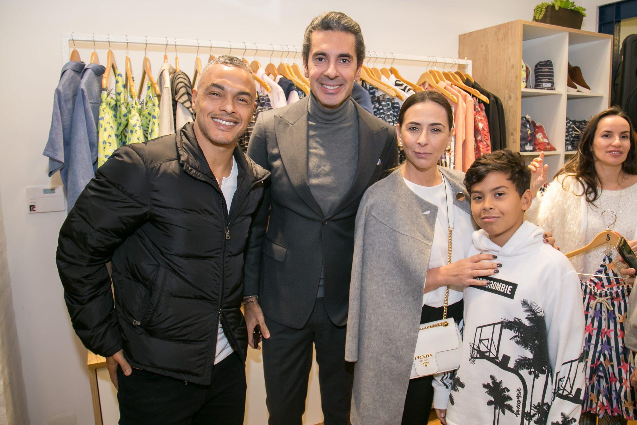 Ricardo Lucas (Dodô), Alexandre Taleb, Tatiana e Enrico Lucas